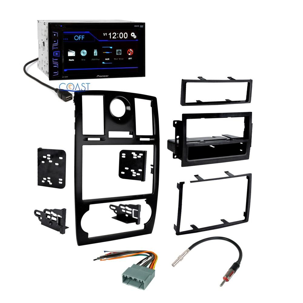 medium resolution of pioneer car radio stereo double din dash kit harness for 2005 07 chrysler 300