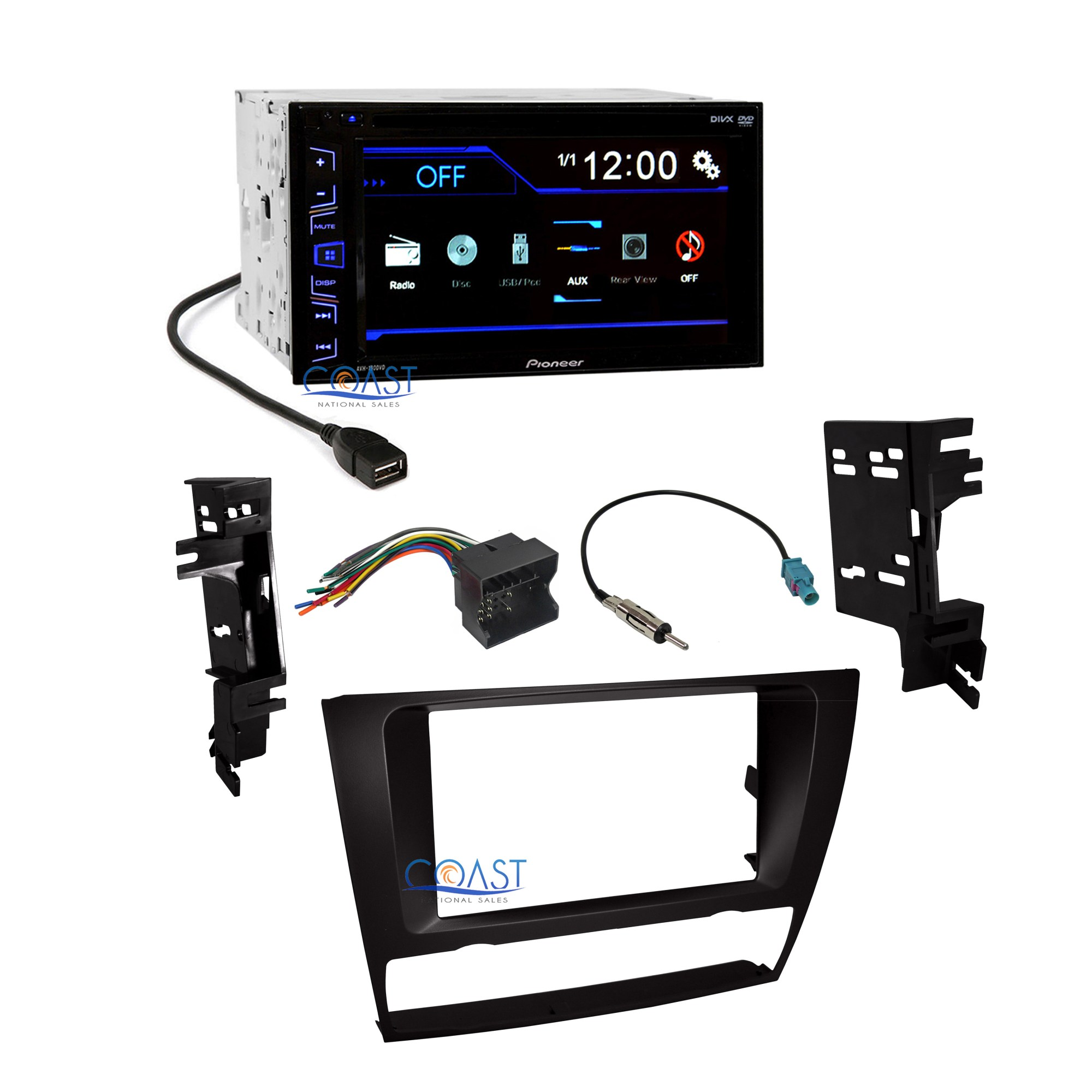 hight resolution of details about pioneer car radio stereo dash kit harness antenna for 2006 2013 bmw 3 series