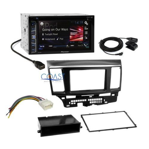 small resolution of pioneer 2016 car radio stereo dash kit harness for 2007 13 mitsubishi lancer