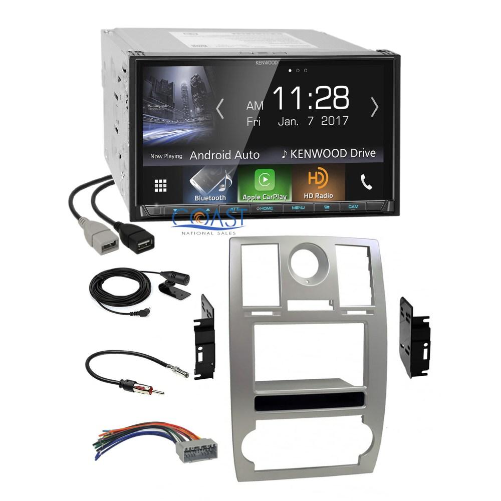 medium resolution of kenwood sirius hd radio carplay silver dash kit harness for 05 07 chrysler 300