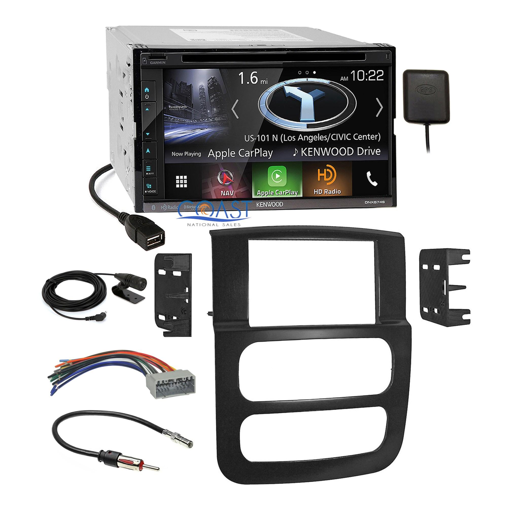 hight resolution of kenwood dvd usb gps carplay stereo dash kit harness for 02 05 dodge dodge ram wiring