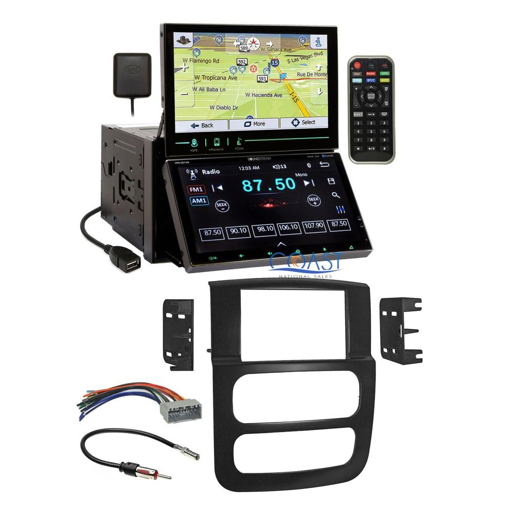 medium resolution of soundstream dual screen dvd gps stereo dash kit harness for 2002 05 dodge ram