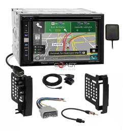 pioneer gps carplay sirius stereo dash kit harness for 07 chrysler chrysler dodge jeep radio replacement wiring harness no amp ebay [ 2070 x 2070 Pixel ]