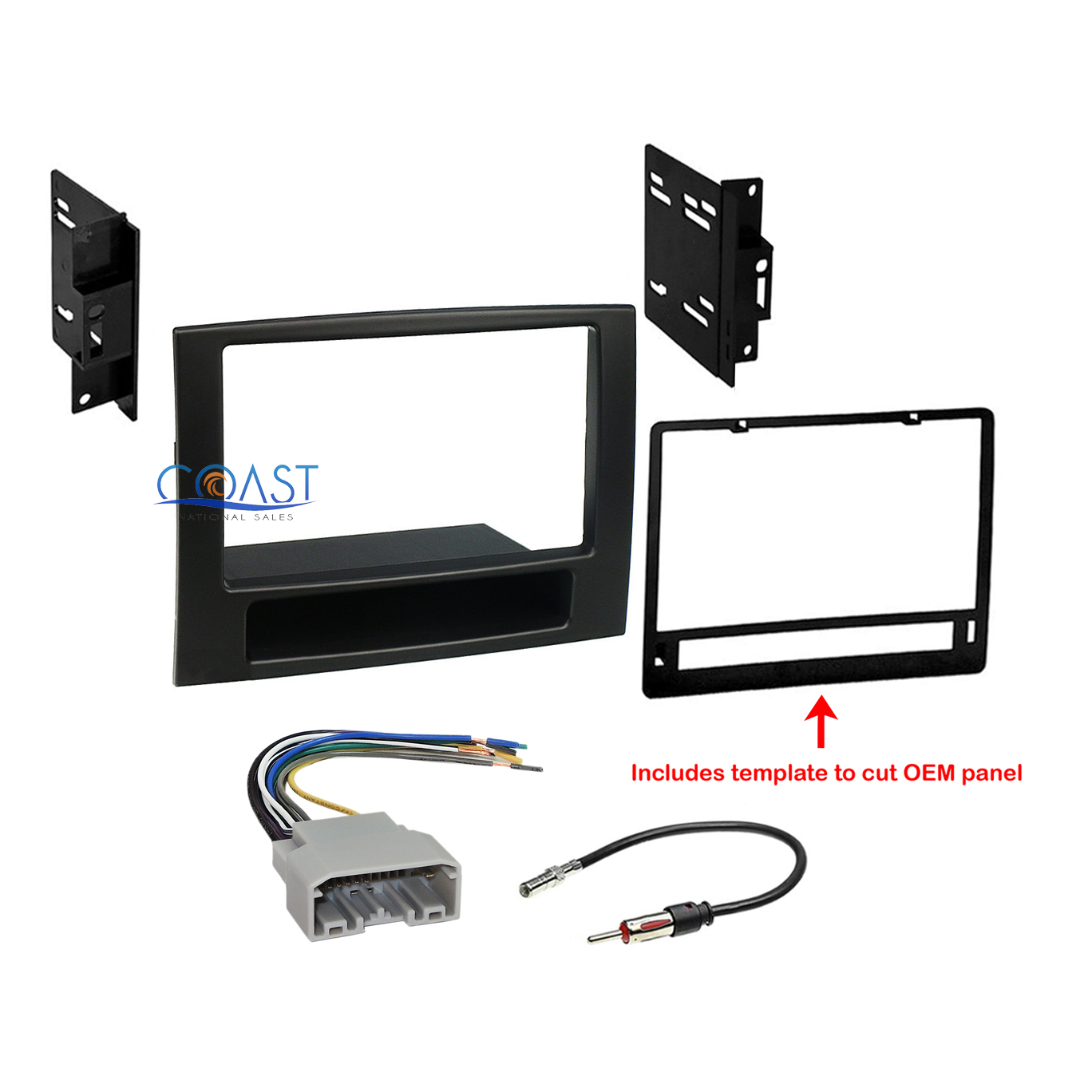 hight resolution of car radio stereo double din dash kit wire harness for 2006 2008 dodge ram