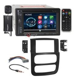 power acoustik dvd bt sirius stereo dash kit harness for 02 05 dodge ram truck [ 2304 x 2304 Pixel ]