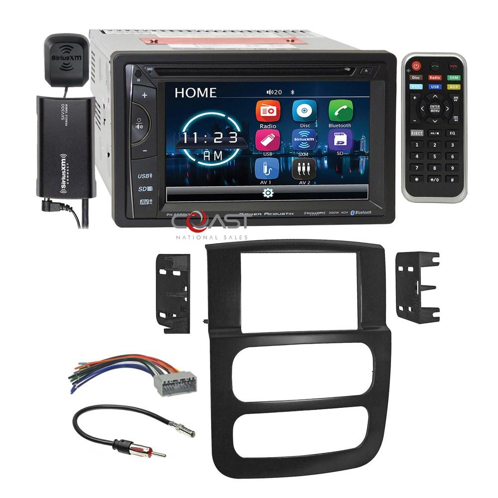 medium resolution of power acoustik dvd bt sirius stereo dash kit harness for 02 05 dodge ram truck