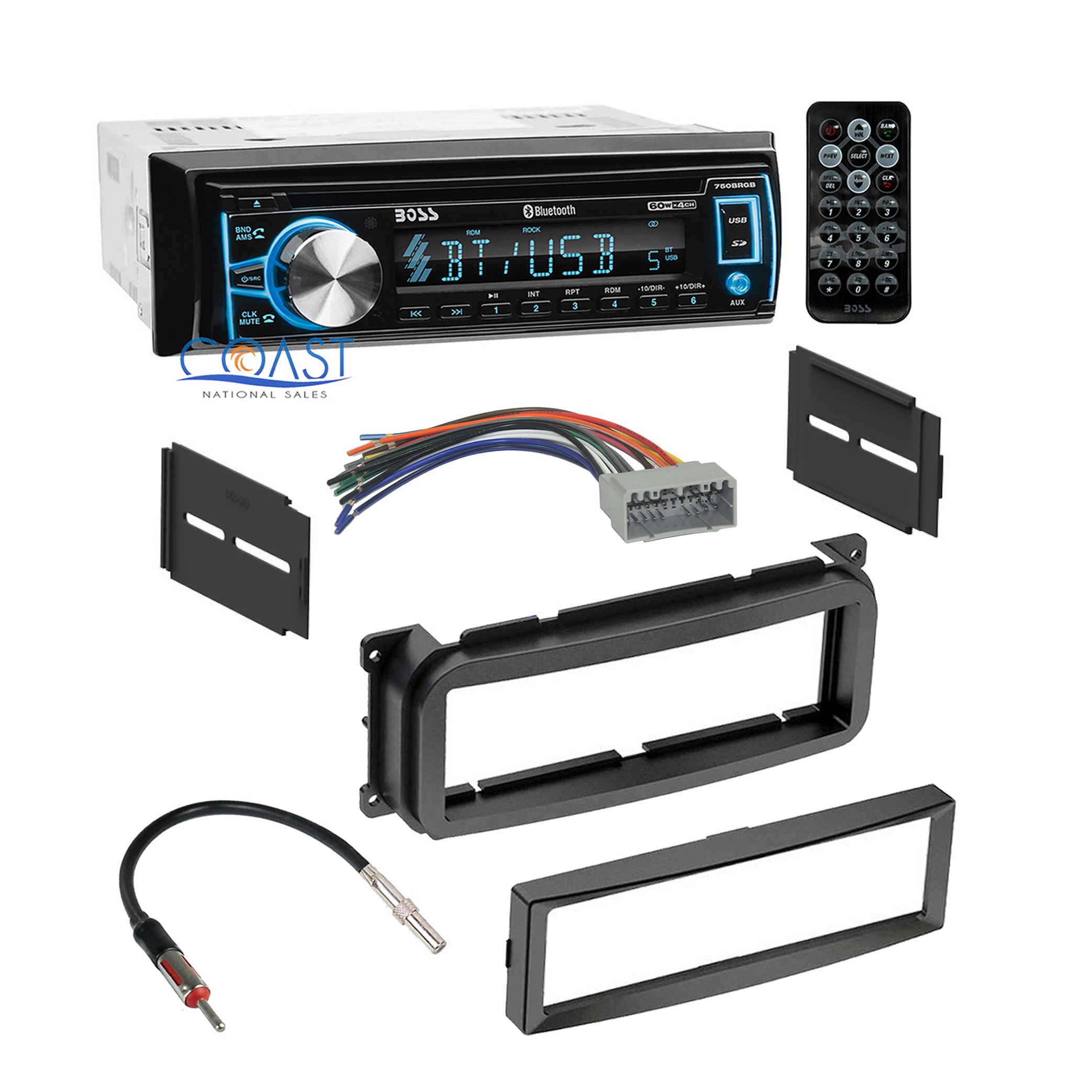 pt cruiser cd player wiring diagram sodium light ballast boss bluetooth car radio stereo dash kit harness for 2002