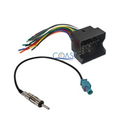 car stereo radio wire harness antenna combo for 2005 2010 bmw cooper volkswagon [ 2400 x 2400 Pixel ]
