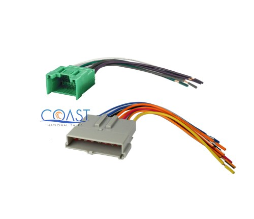small resolution of car stereo wire harness to factory harness for 1985 1998 ford lincoln mercury specifications