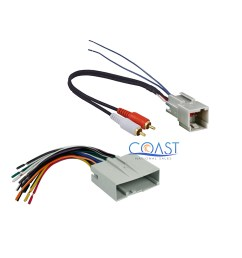 aftermarket radio amplifier wiring harness for 2003 up ford lincoln mercury [ 1533 x 1410 Pixel ]