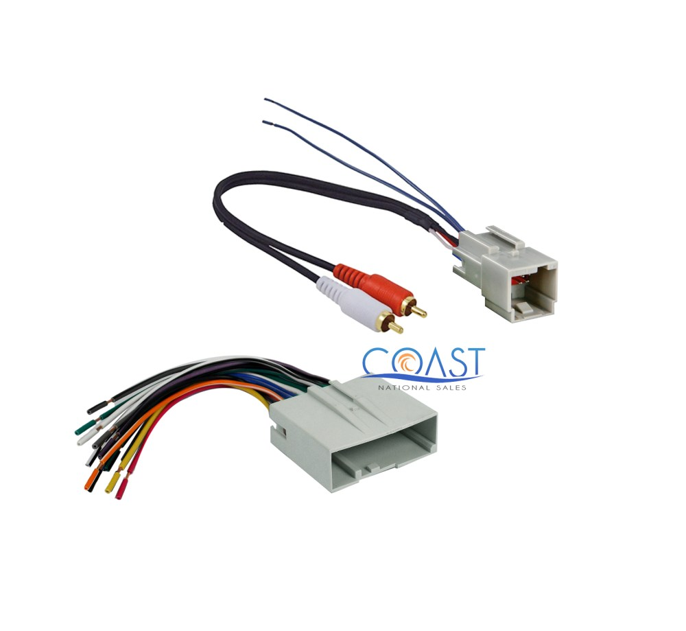 medium resolution of aftermarket radio amplifier wiring harness for 2003 up ford lincoln mercury
