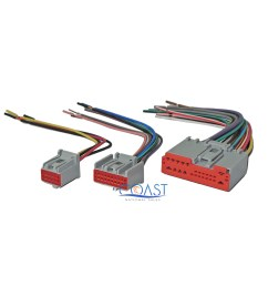 car stereo radio wiring harness plugs to factory radio for ford lincoln mercury [ 2400 x 2267 Pixel ]