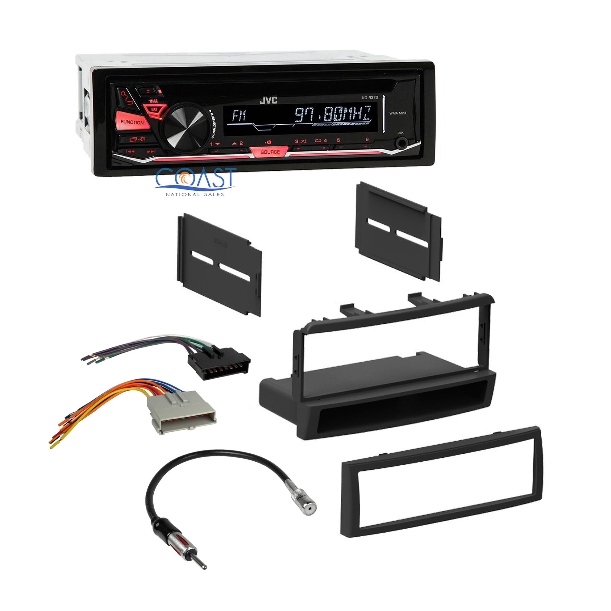 Jvc Radio Stereo Dash Kit Wiring Harness For 98 04 Ford