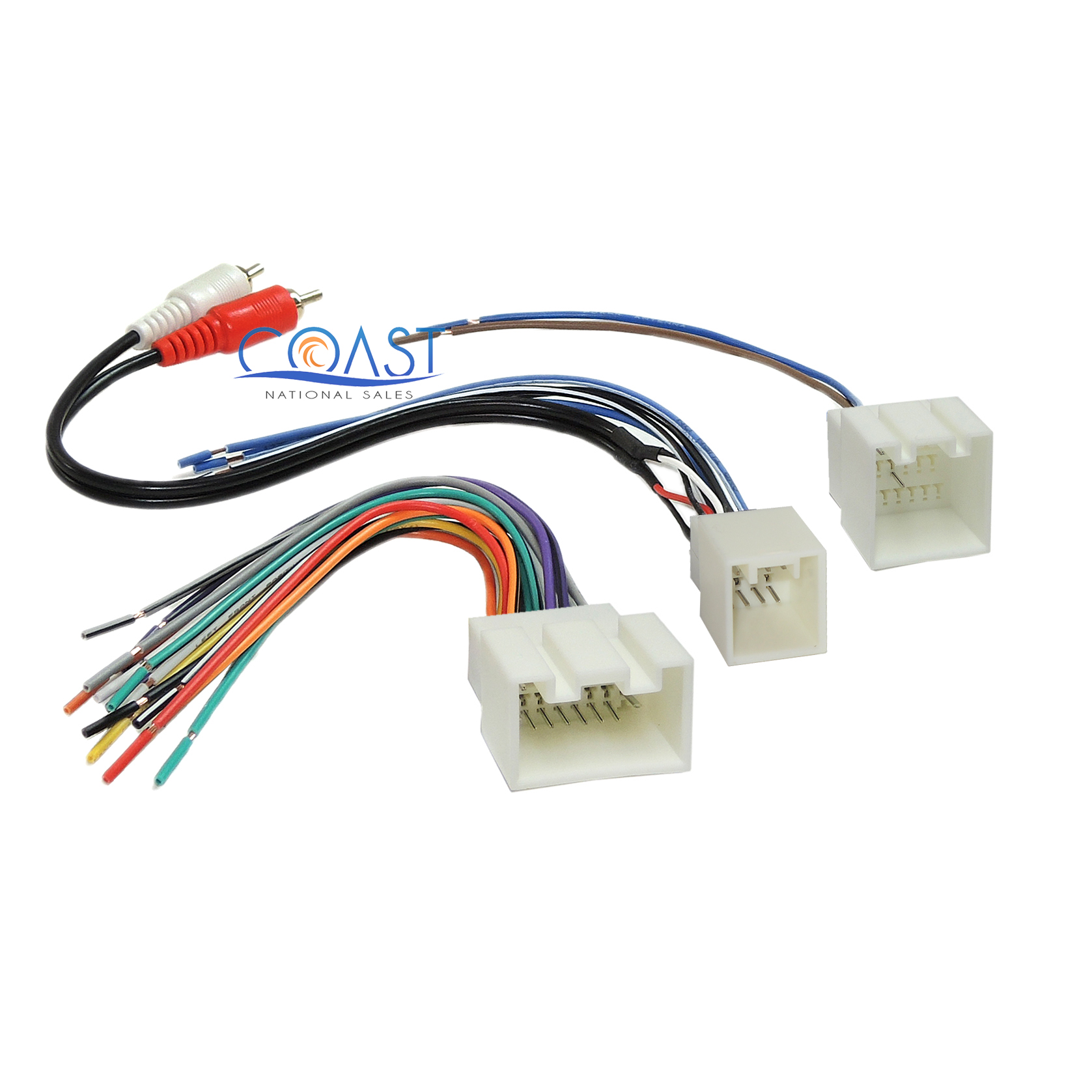 ford car stereo wiring diagrams kawasaki mule 3010 ignition diagram radio amp harness with rca for 1998 2005