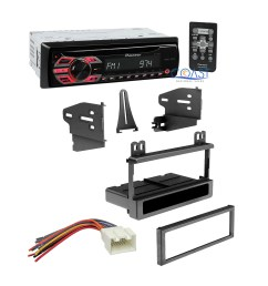 pioneer single din car dash kit wire harness for 1995 2010 ford pioneer to ford wiring harness [ 1878 x 1878 Pixel ]