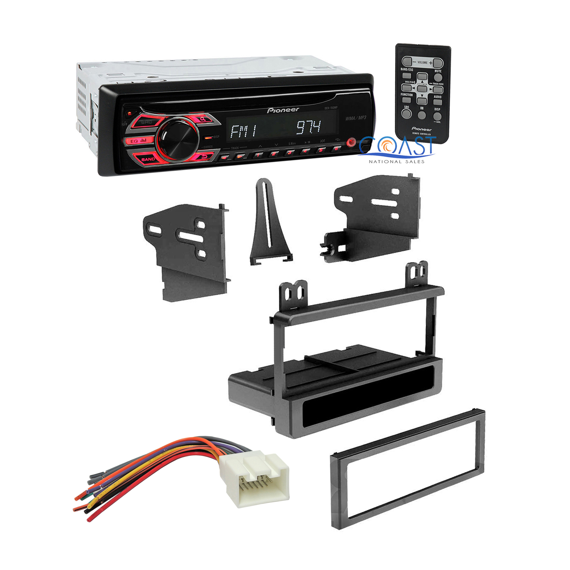 hight resolution of pioneer single din car dash kit wire harness for 1995 2010 ford pioneer to ford wiring harness