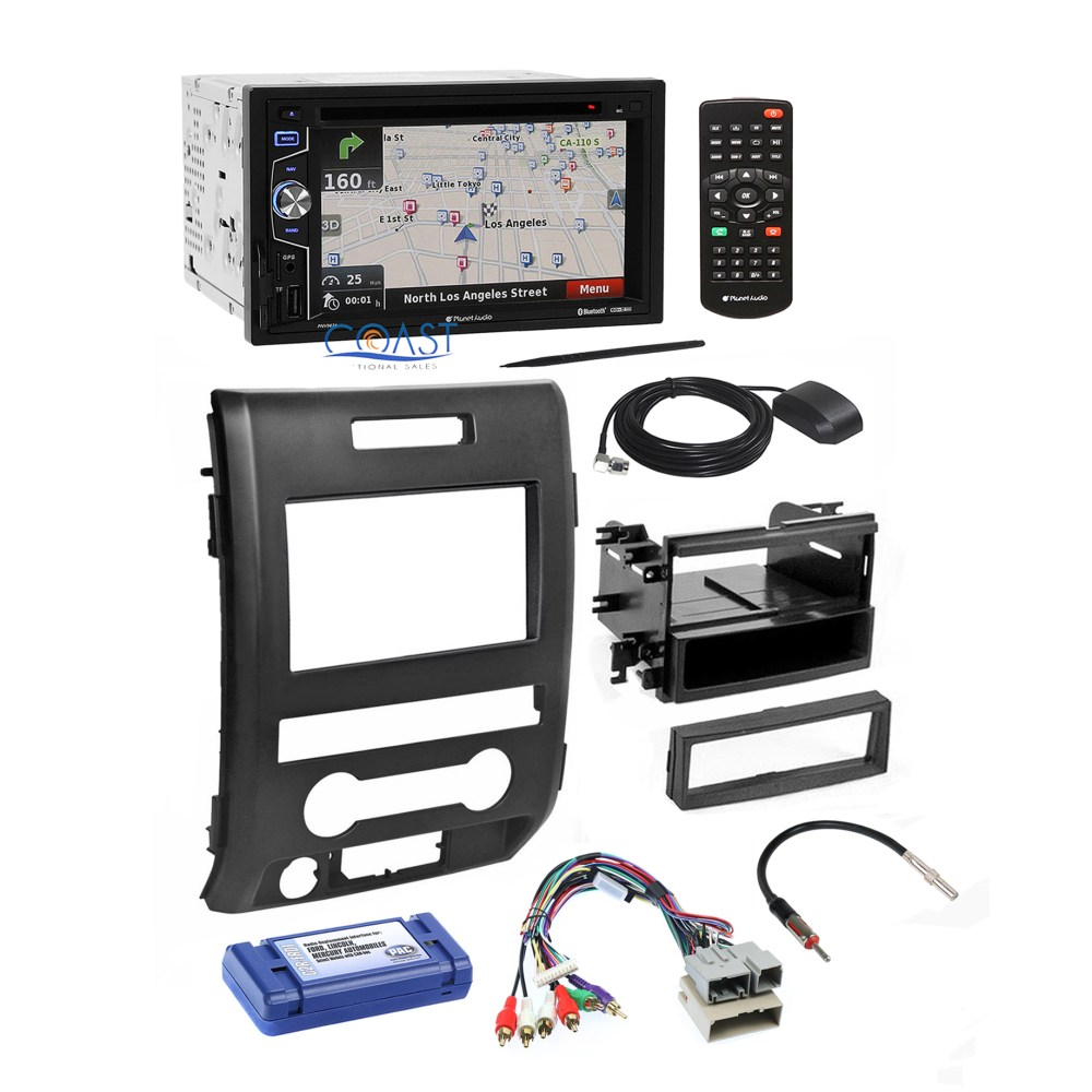 medium resolution of planet audio radio stereo dash kit wire harness interface for 09 12 ford f 150