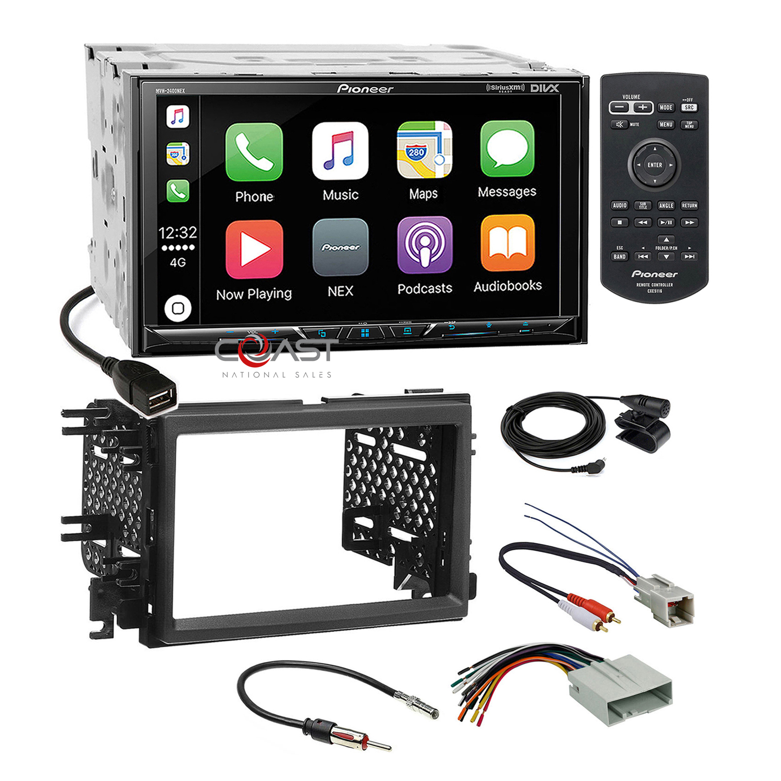 hight resolution of details about pioneer carplay sirius bt gps stereo dash kit harness for ford lincoln mercury