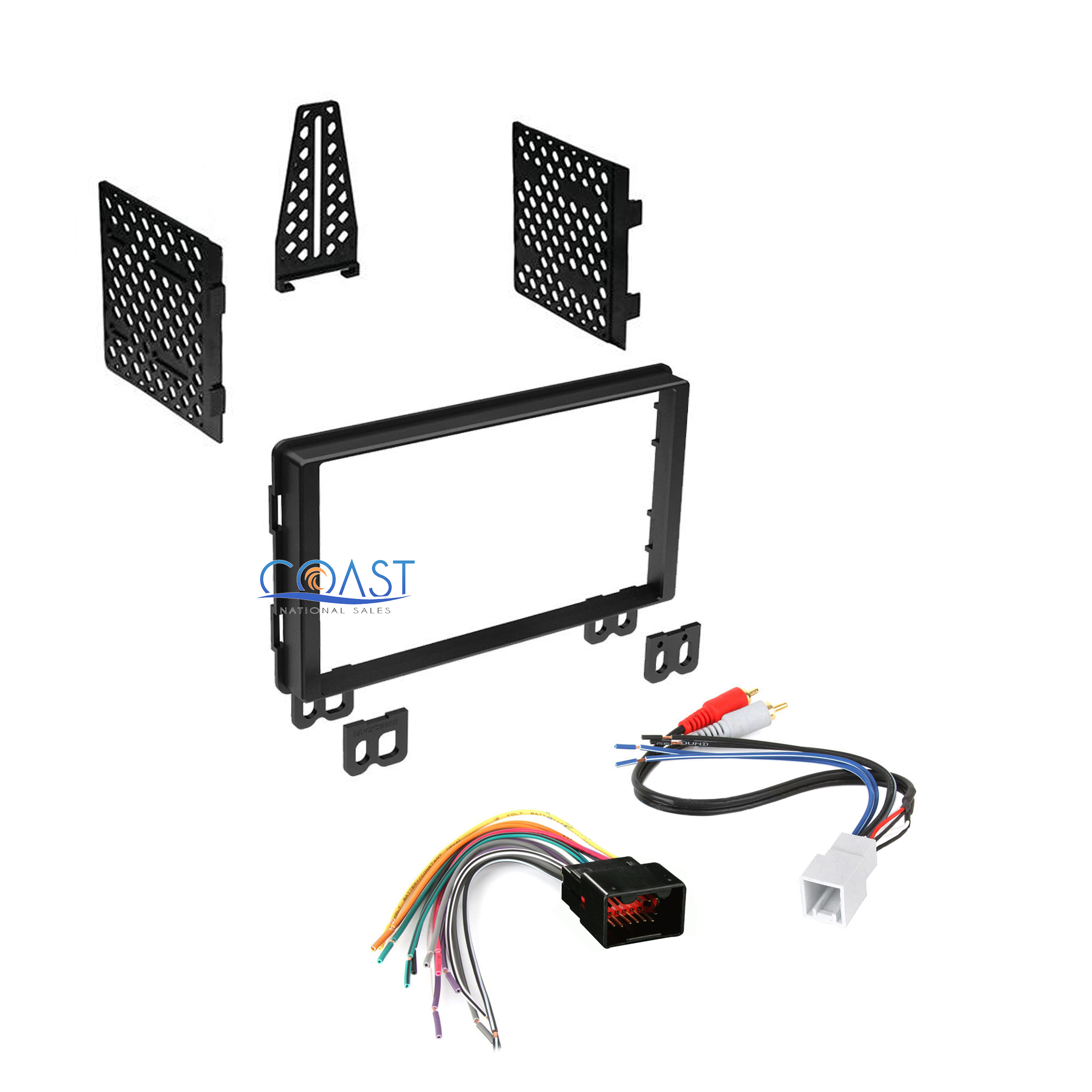 Double DIN Car Radio Stereo Dash Kit Harness for 2001-06