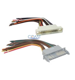 car stereo wiring harness combo for 2000 2005 buick lesabre pontiac 2001 pontiac bonneville wiring harness diagram pontiac bonneville wiring harness [ 2772 x 2712 Pixel ]