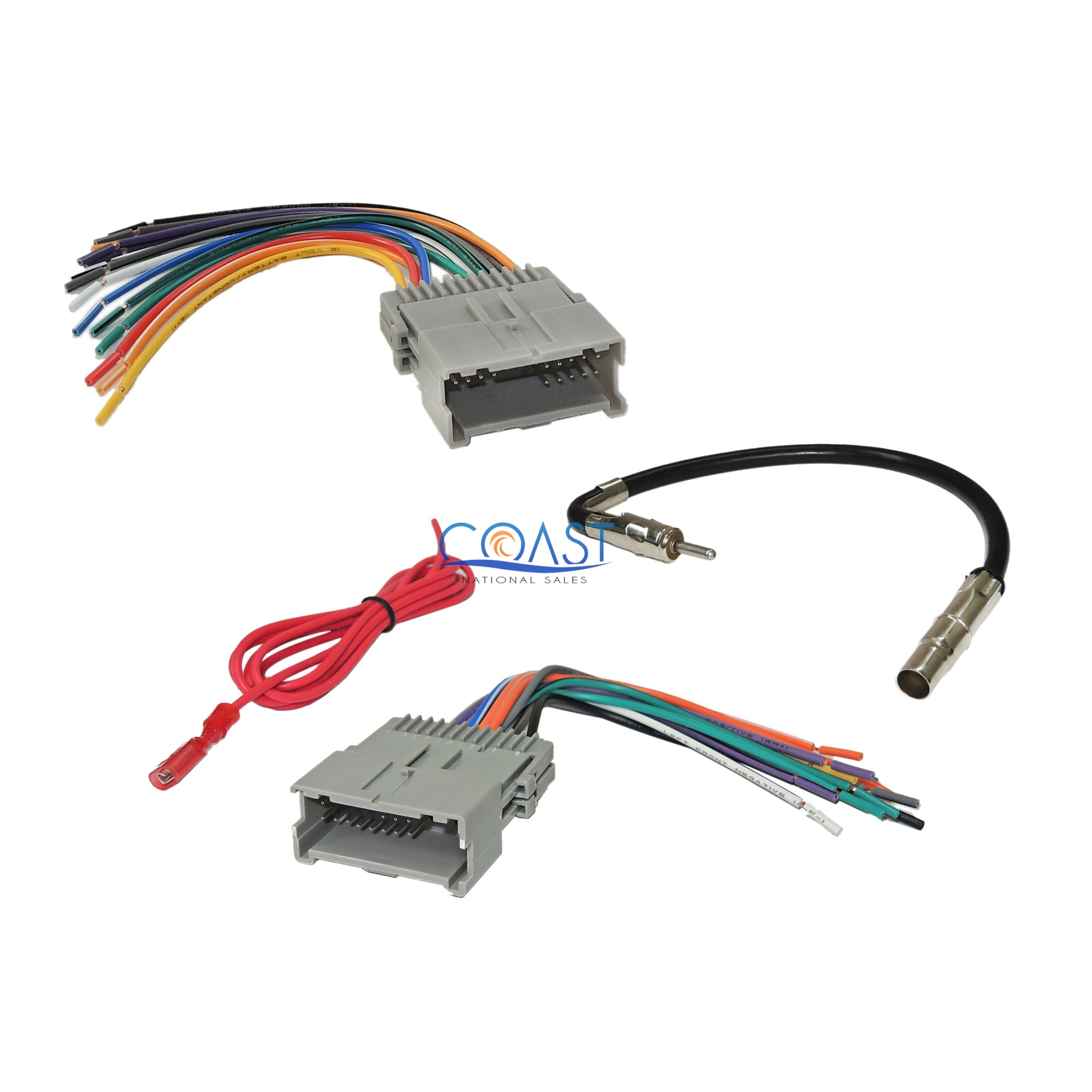 hight resolution of details about gm car radio stereo wiring harness antenna combo for 1992 up chevy gmc pontiac
