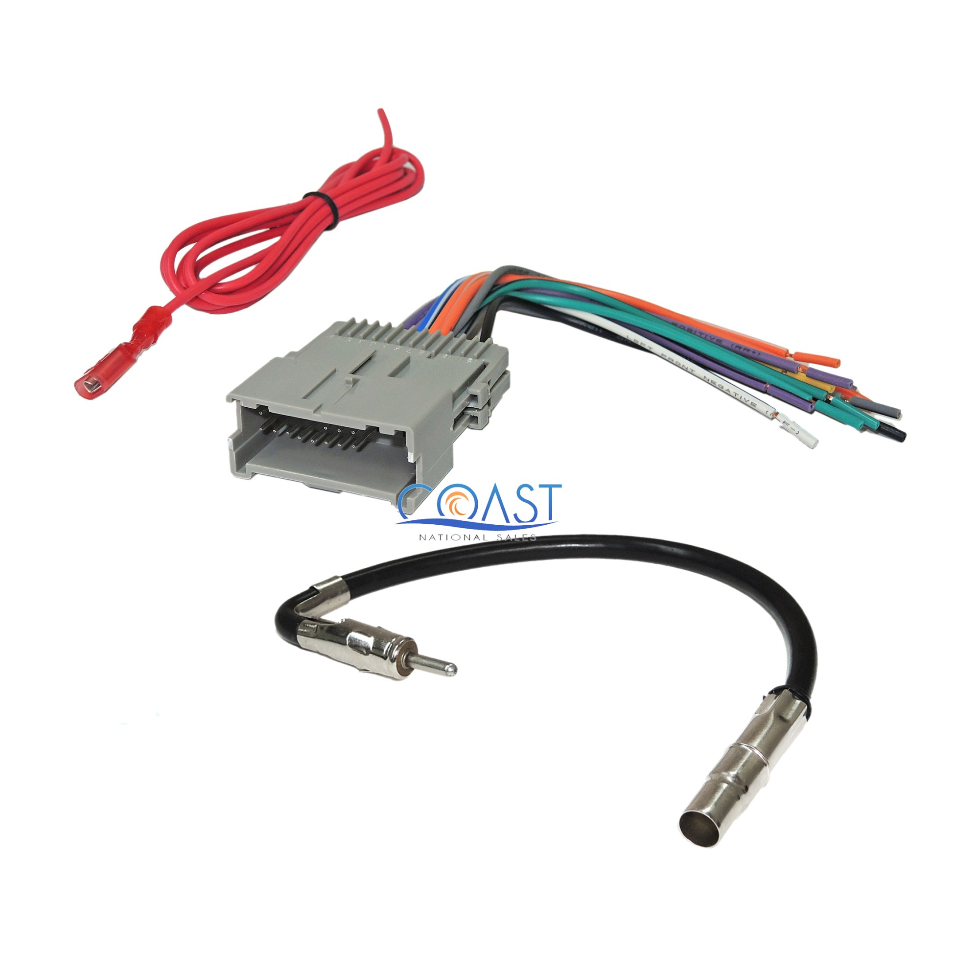 hight resolution of car radio stereo wire harness antenna combo for 1992 up gm chevy isuzu pontiac