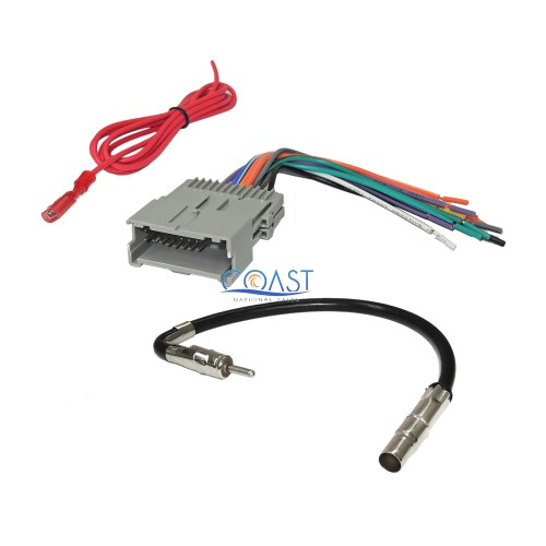 small resolution of car radio stereo wire harness antenna combo for 1992 up gm chevy isuzu pontiac