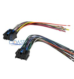 car stereo wiring harness plugs into factory radio for 1996 up saturn ion vue [ 2400 x 2043 Pixel ]