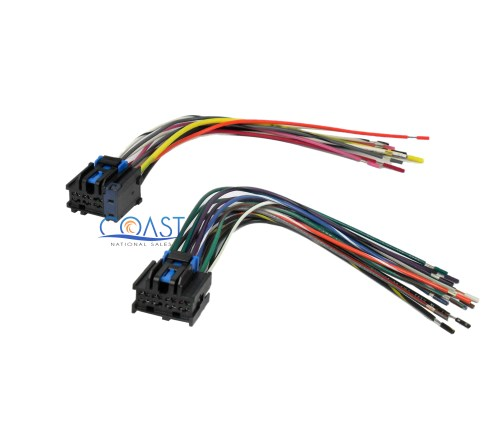 small resolution of car stereo wiring harness plugs into factory radio for 1996 up saturn ion vue
