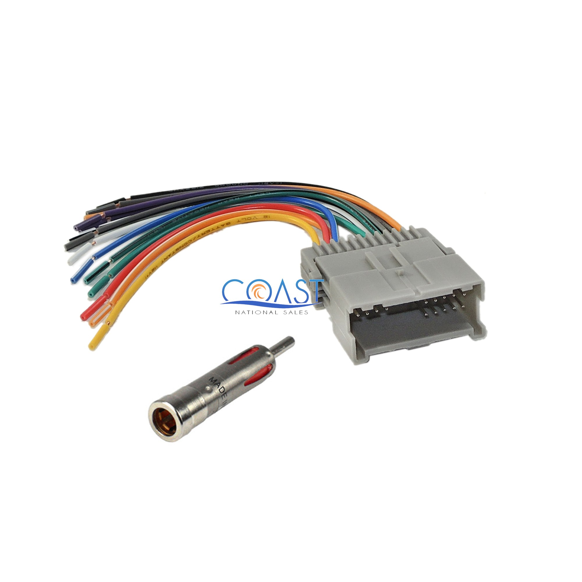 hight resolution of car stereo radio wiring harness antenna for 2000 up buick chevy gmccar stereo radio wiring harness