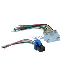 reverse wiring harness to factory radio for select 20042007 chevrolet [ 2664 x 2452 Pixel ]