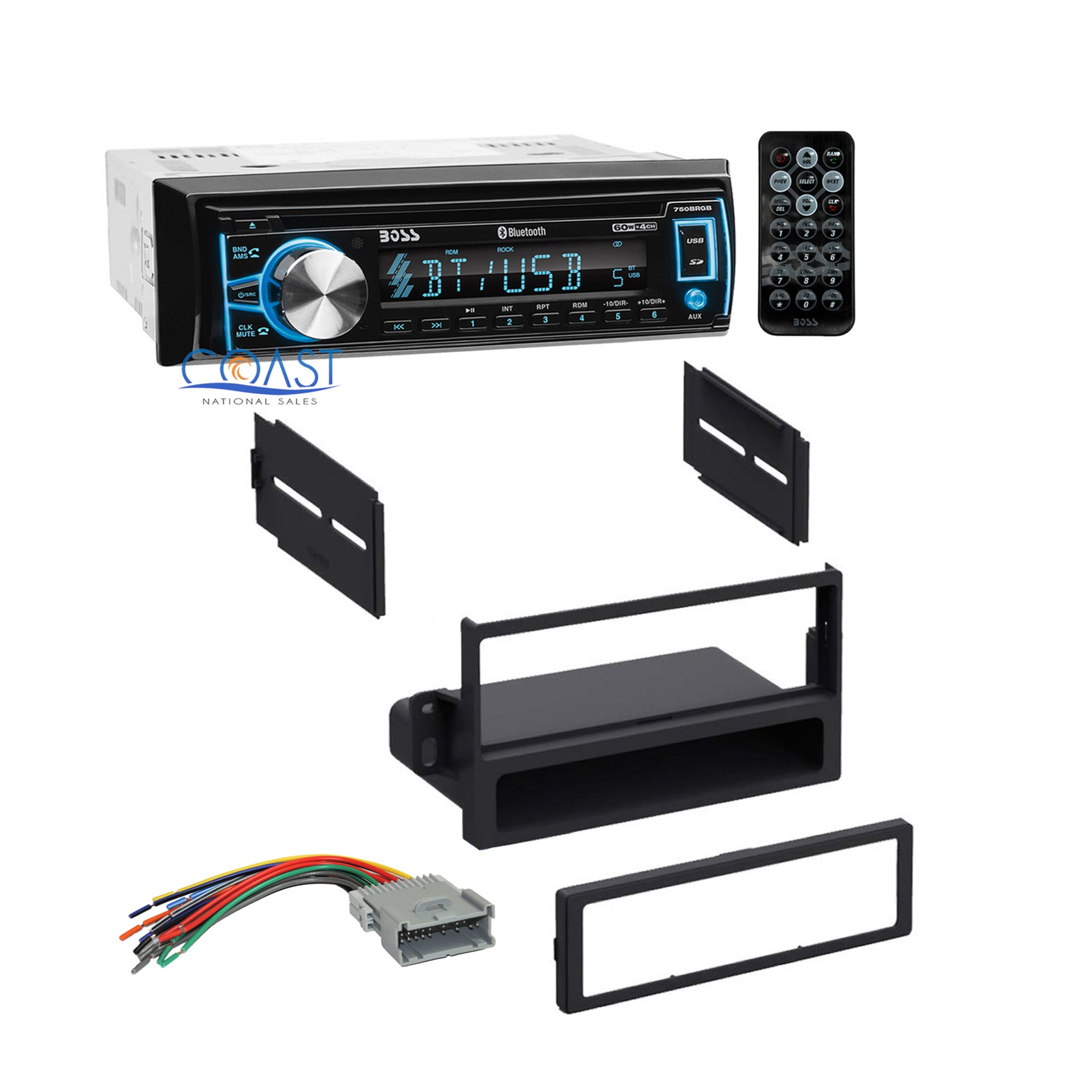 hight resolution of boss car radio stereo dash kit wire harness for 2000 2005 saturn ion vue sc