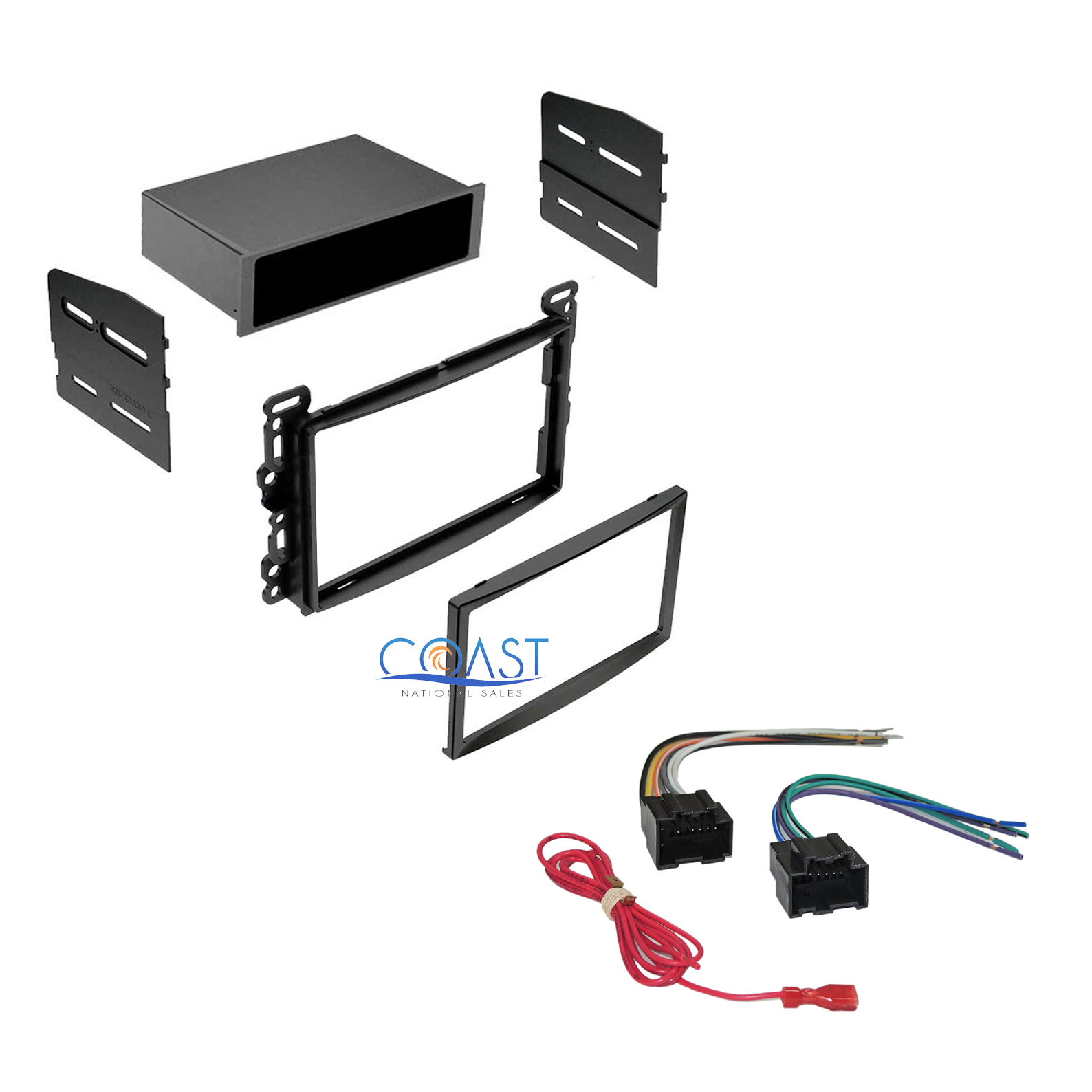 hight resolution of car radio stereo dash kit w wiring harness for 2004 2010 chevy pontiac saturn