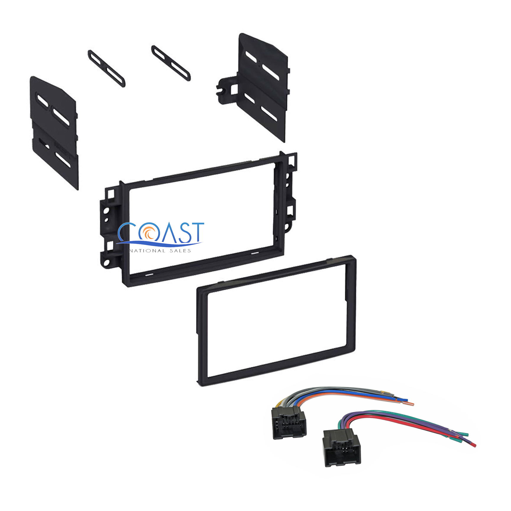 hight resolution of single double din car stereo dash kit with harness for 2007 2011 chevrolet aveo
