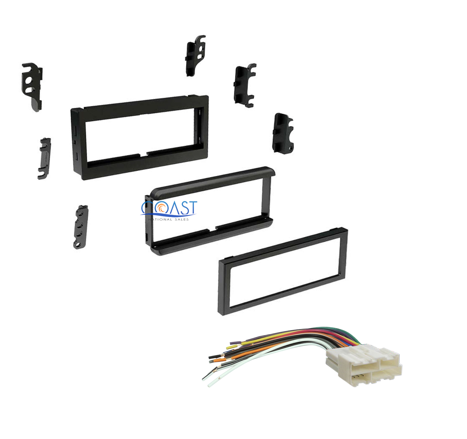 Single Din Car Stereo Dash Kit Harness For Gmc