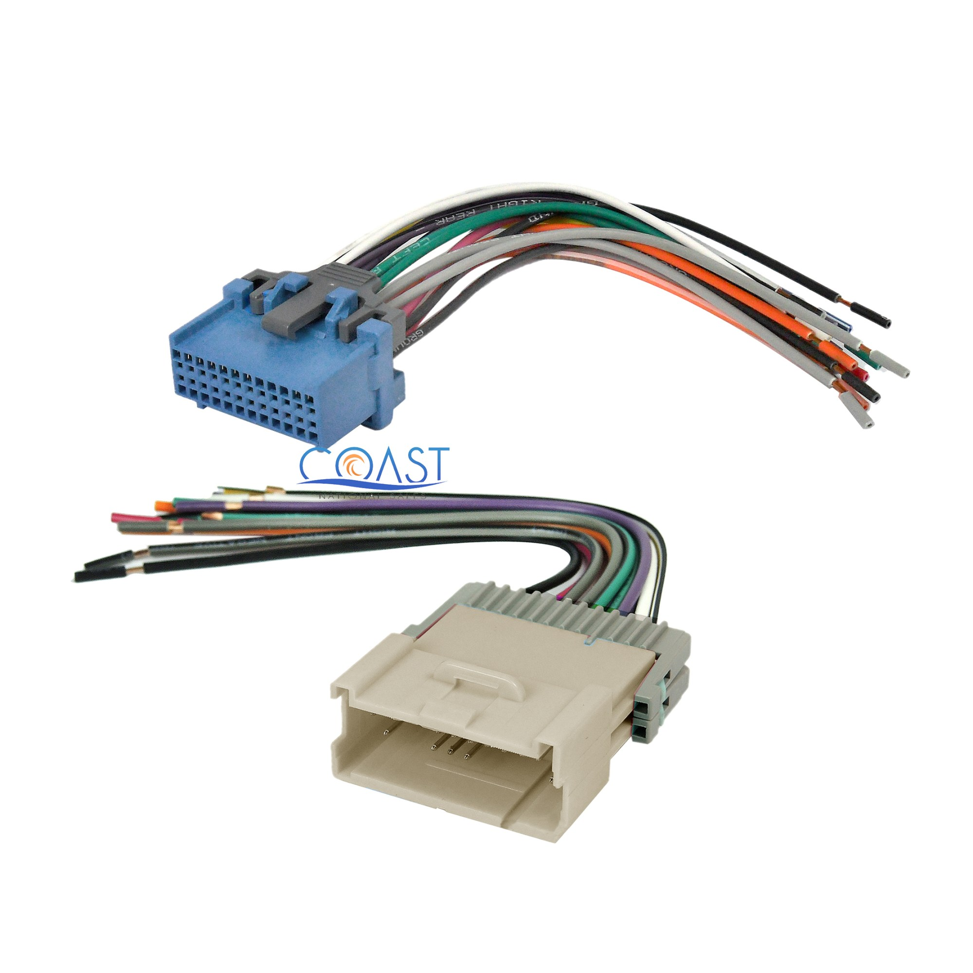 hight resolution of car stereo radio male female wiring harness combo for 2004 2005 saturn ion vue