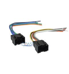 car stereo harness plugs into factory harness for 2006 2007 saturn ion vue [ 2384 x 2216 Pixel ]