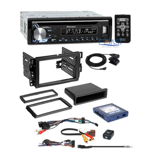 small resolution of pioneer usb bluetooth stereo gm dash kit onstar bose steering adapter harness