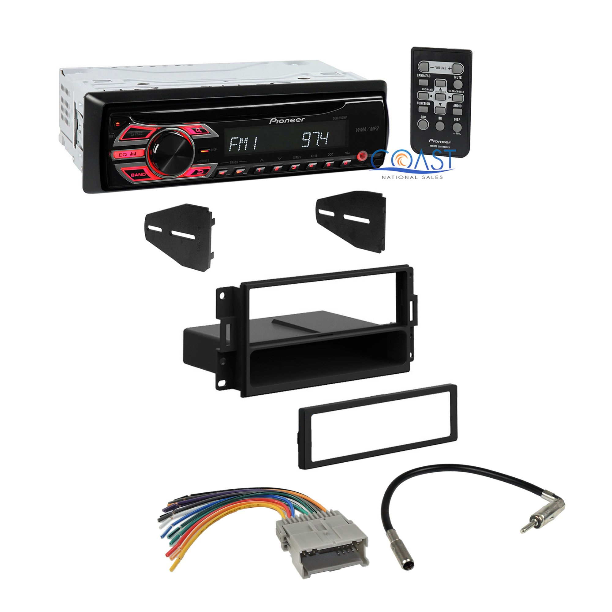 hight resolution of pioneer car radio stereo dash kit wire harness for 2004 08 pontiacdetails about pioneer car radio