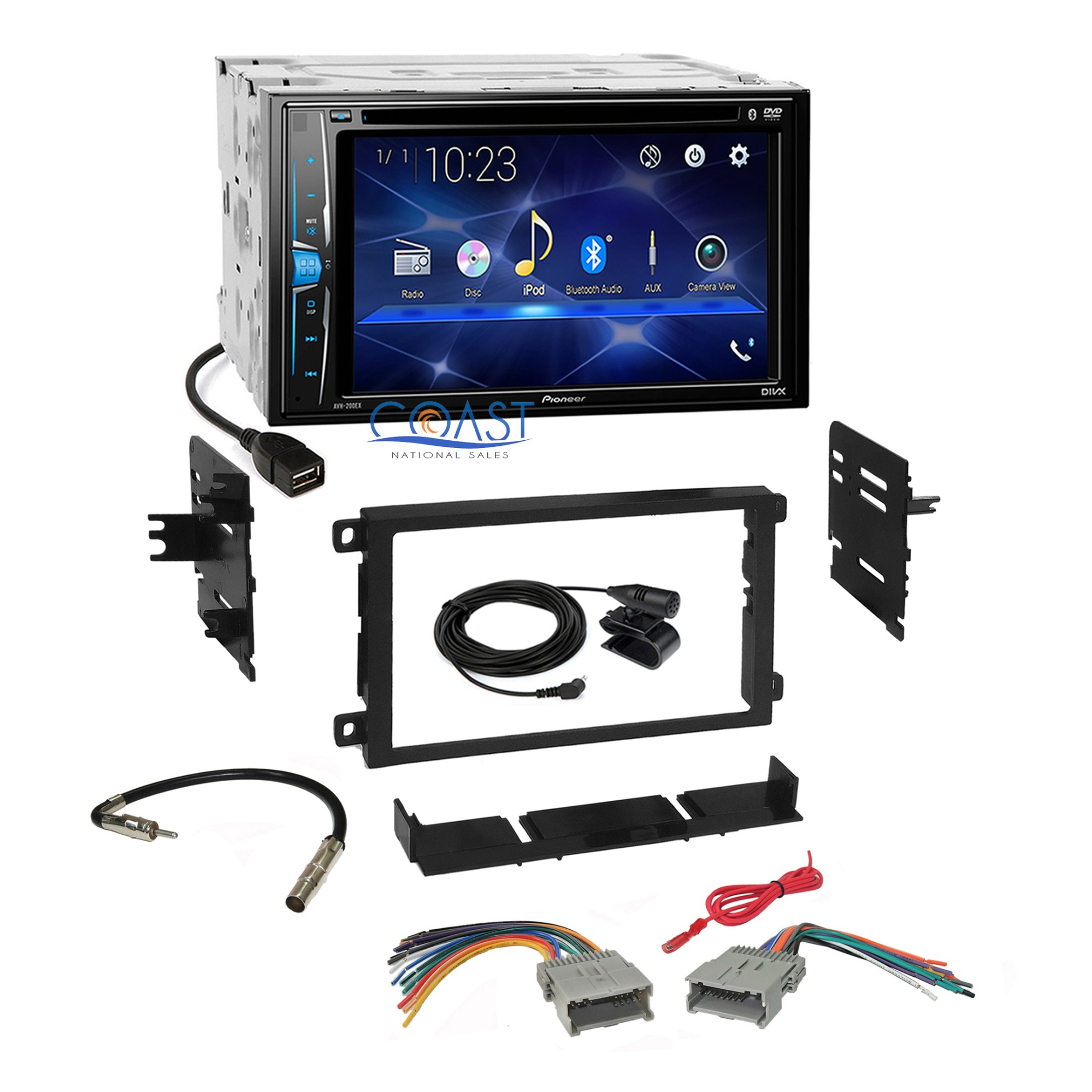 hight resolution of details about pioneer 2018 dvd bluetooth stereo dash kit harness for 1992 chevy gmc pontiac