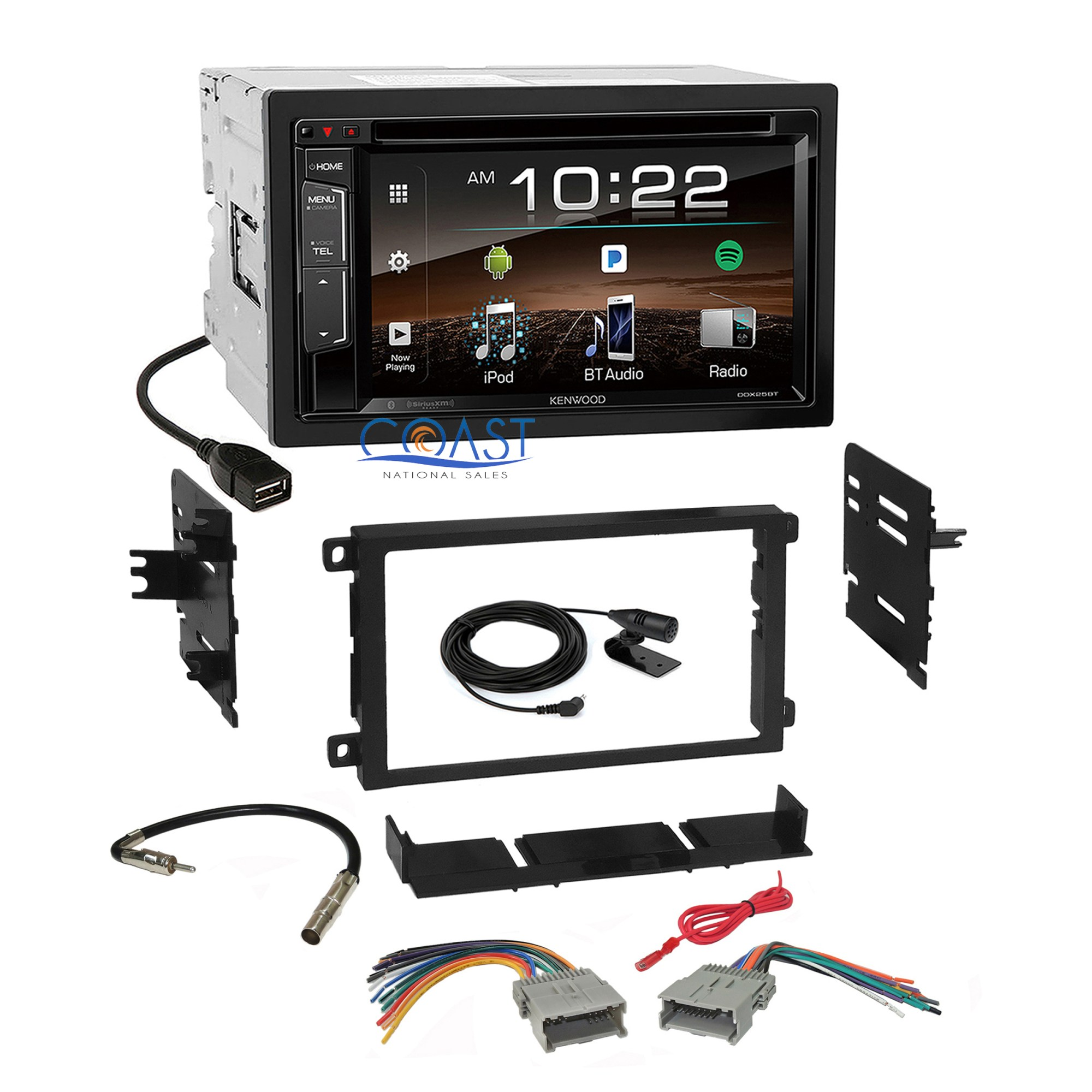 hight resolution of details about kenwood dvd bluetooth sirius stereo dash kit harness for 92 chevy gmc pontiac