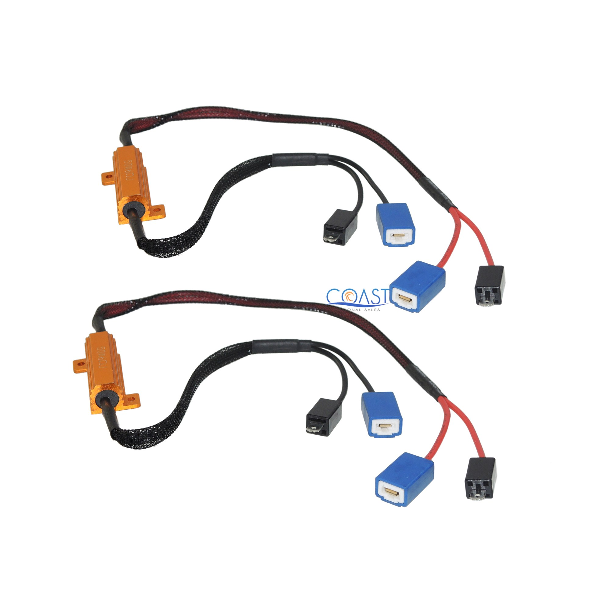 hight resolution of details about error free load resistor led warning light decoder wire harness h1 h3 2 pcs