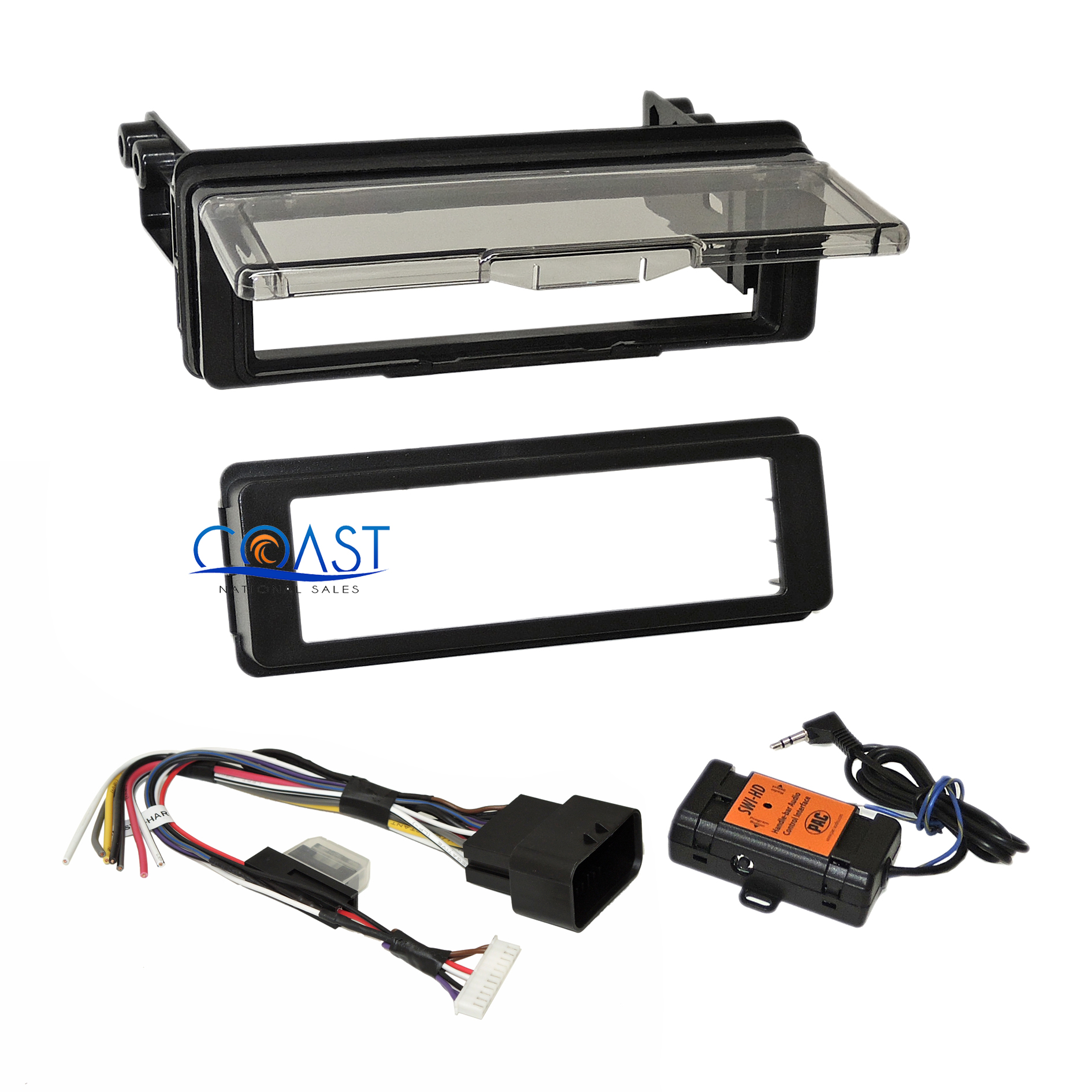 hight resolution of stereo cd dash kit adapter harness with thumb control for 98 13 harley touring
