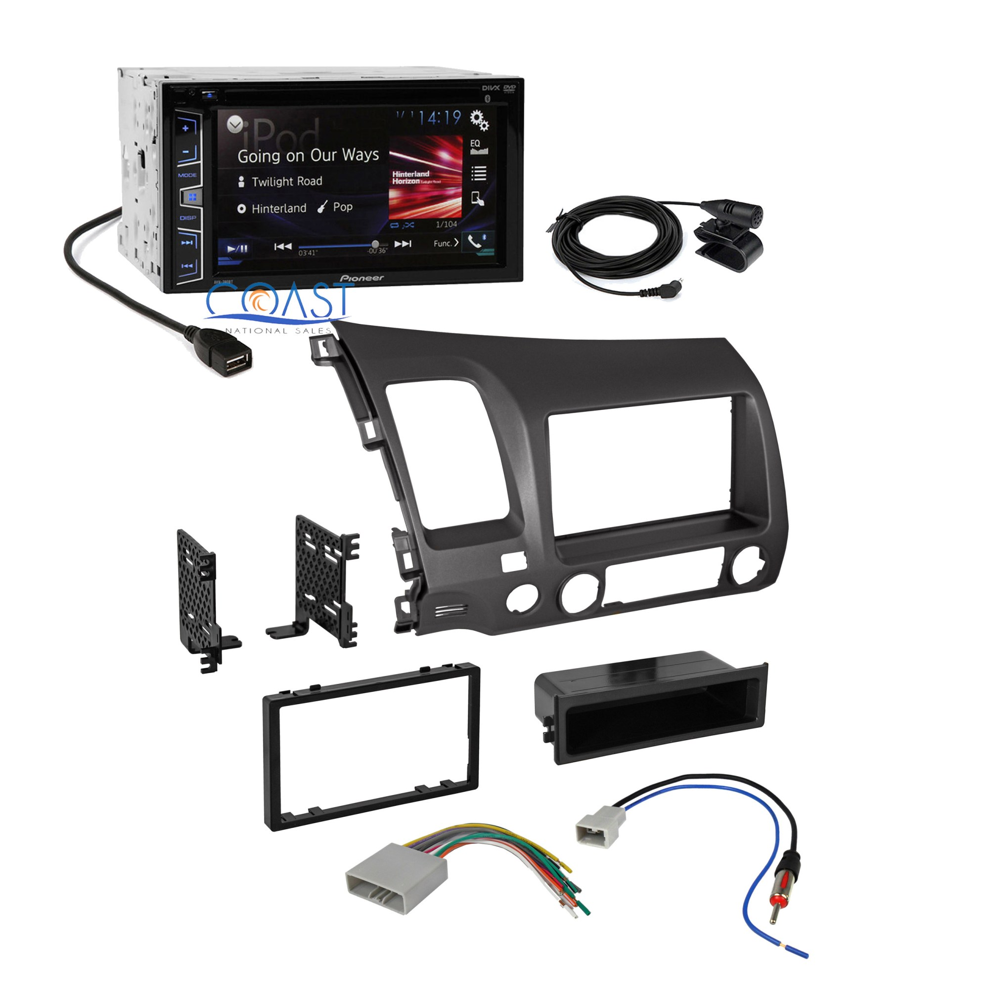 hight resolution of pioneer car radio stereo 2 din dash kit wire harness for pioneer wiring harness color code pioneer wiring harness diagram