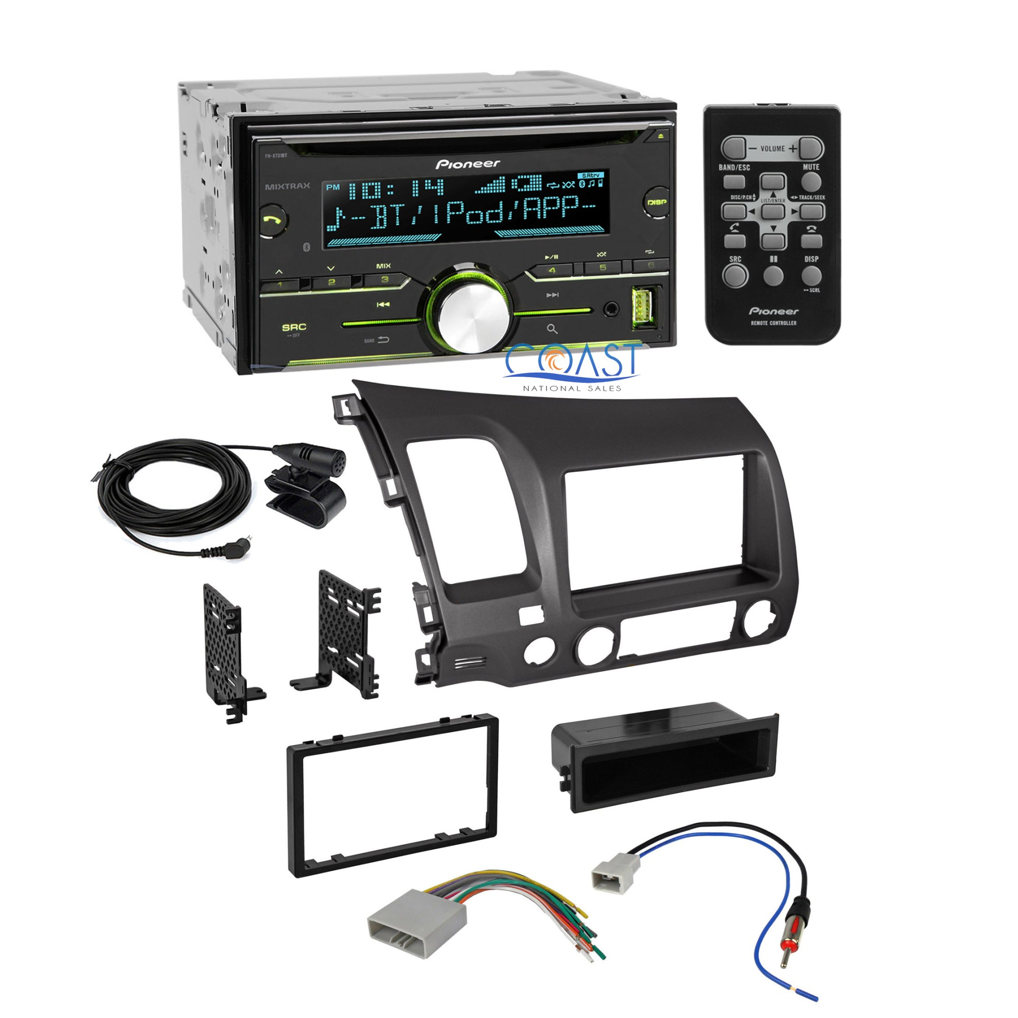 hight resolution of details about pioneer radio stereo dash kit wire harness antenna for 2006 2011 honda civic