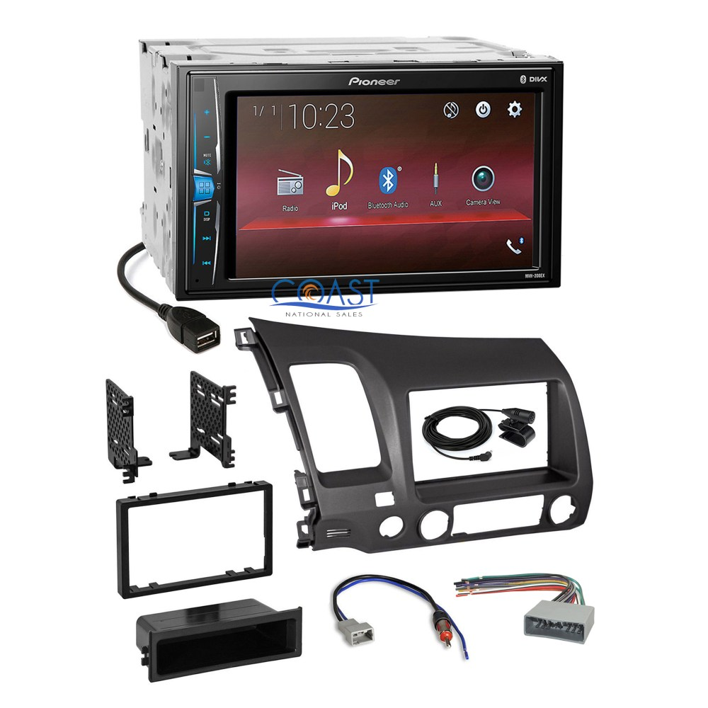 medium resolution of details about pioneer 2018 usb multimedia grey stereo dash kit harness for 06 11 honda civic