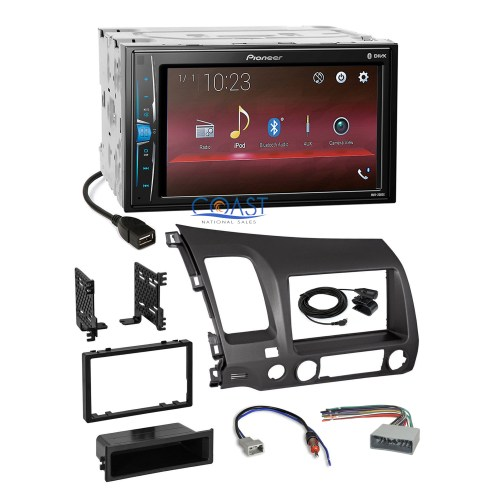 small resolution of details about pioneer 2018 usb multimedia grey stereo dash kit harness for 06 11 honda civic