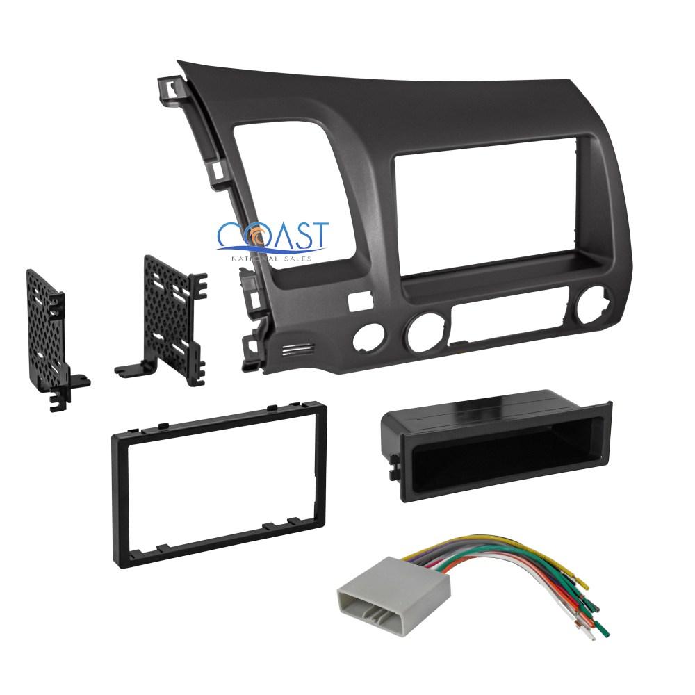 medium resolution of car radio stereo single din dash kit wiring harness for 2006 2011 honda civic