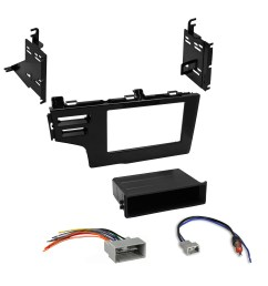 car radio stereo single double din dash kit wiring harness for 2015 honda fit [ 2888 x 2888 Pixel ]