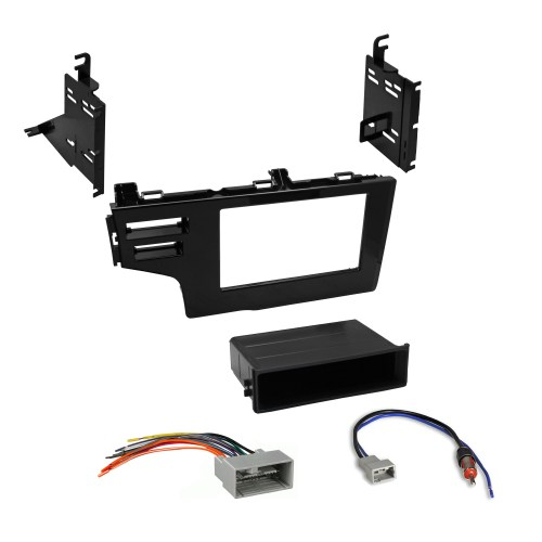 small resolution of car radio stereo single double din dash kit wiring harness for 2015 honda fit